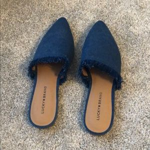 Lucky Brand Chambray Slides/Loafers